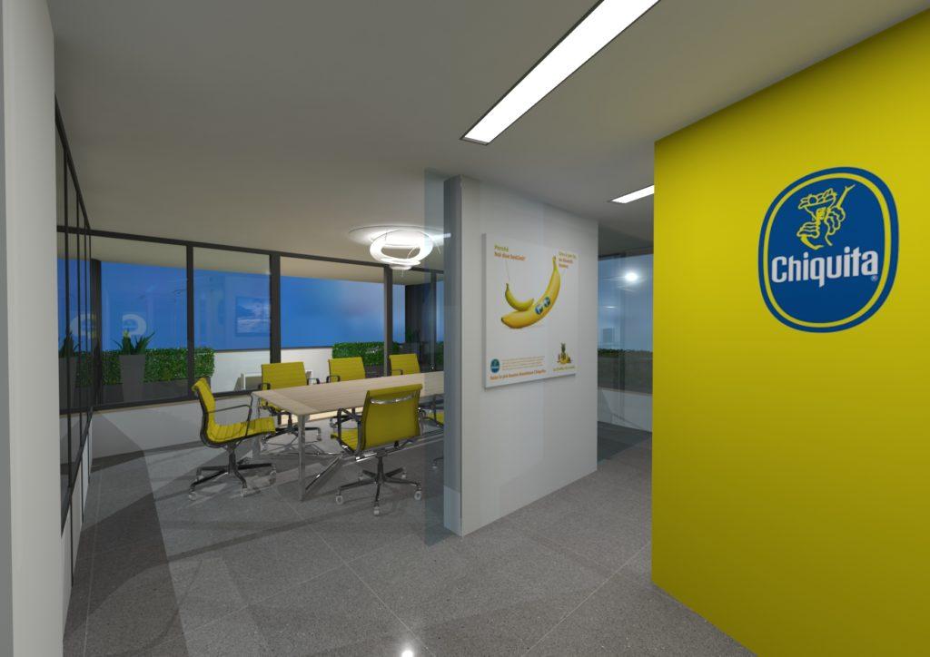 I nuovi uffici di Chiquita a Roma: le tendenze dell'open space