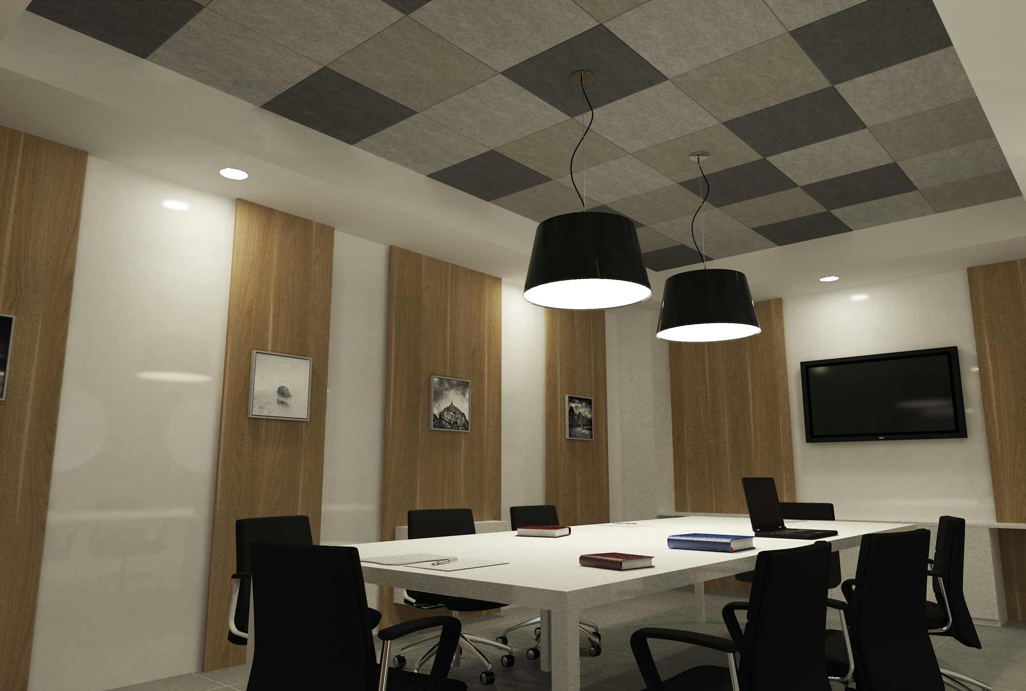 Pareti e moduli in materiale fonoassorbente per uffici for Materiale per ufficio